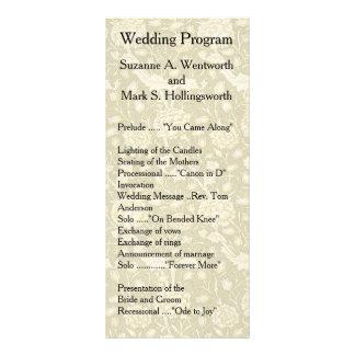 Floral Wedding Programs, Textile, Vintage, Garden Full Colour Rack Card