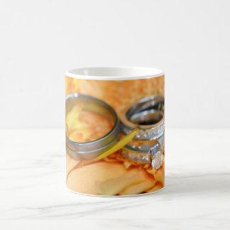 Floral Wedding Rings Classic White Coffee Mug