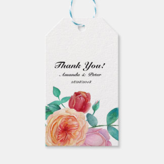 Floral Wedding Thank You Favour Gift Tags