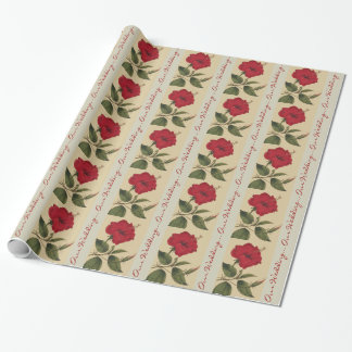 Floral Wedding Wrapping Paper