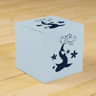 Floral Whale Shark Vector Art Favor Box
