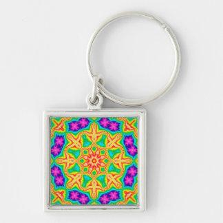 Floral Wheel Custom Keychain
