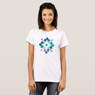 Floral Winter Northern Winter Sky Lights T-Shirt