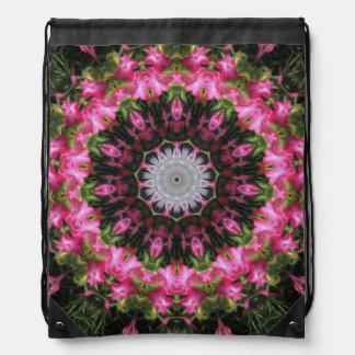 Floral Wisp - Drawstring Backpack