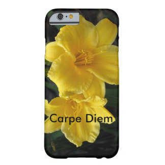 floral with Carpe diem Barely There iPhone 6 Case
