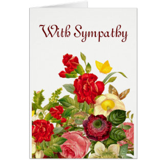 Floral. With Sympathy. Card