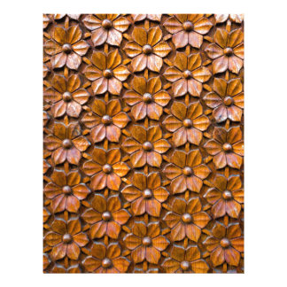 Floral Woodcarving Door Panel Closeup background Letterhead
