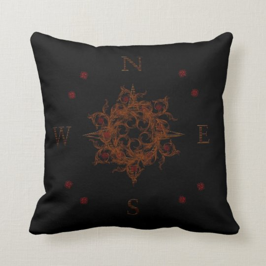 Floral Wooden Compass Pillow