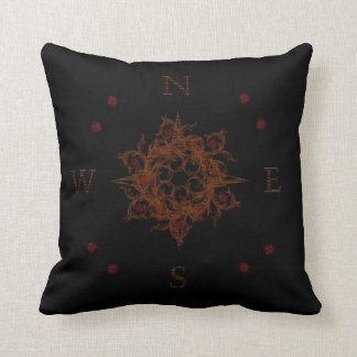 Floral Wooden Compass Pillow