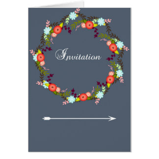 Floral Wreath and arrows Card