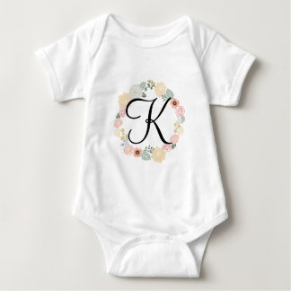 Floral Wreath Baby Bodysuit
