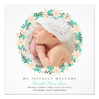 Floral Wreath | Birth Announcement