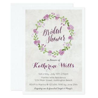 Floral Wreath Bridal Shower Invite