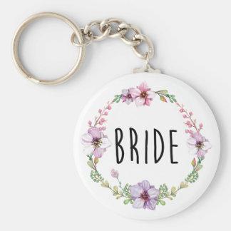 Floral Wreath Bride Keychain