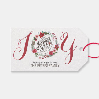Floral Wreath Christmas | Gift Tags Pack Of Gift Tags