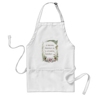 Floral Wreath Himalayan Flowers Messy Kitchen Standard Apron