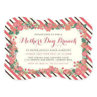 Floral Wreath Mother's Day Brunch Card