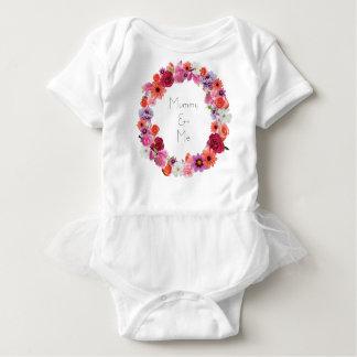 Floral Wreath Mummy & Me Baby Bodysuit