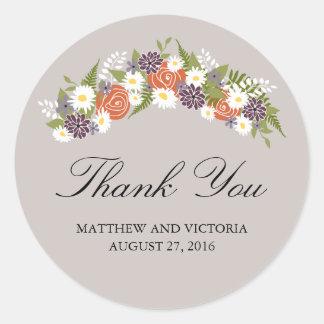 Floral Wreath Wedding Sticker