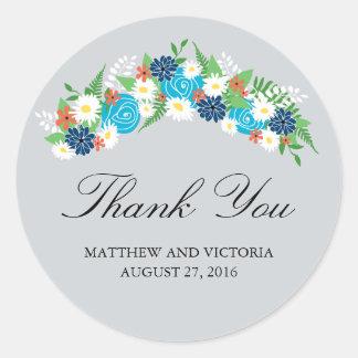 Floral Wreath Wedding Stickers