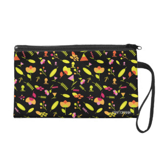 Floral wristlet bag