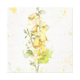 Floral Yellow Splash Canvas Print