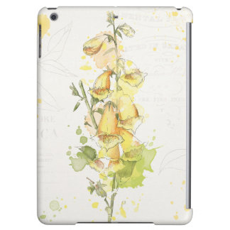 Floral Yellow Splash Case For iPad Air