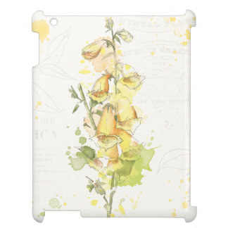 Floral Yellow Splash iPad Covers