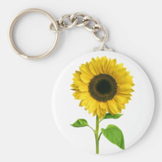 Floral Yellow Sunflower Flower Keychain