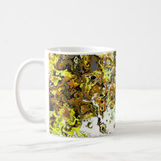 Floral Yellow Swirl Designer Mug