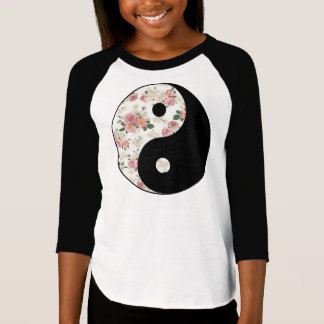 Floral Yin and Yang T Shirt