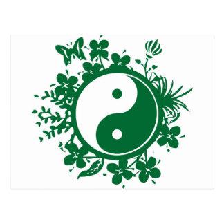 Floral Yin Yang Postcard