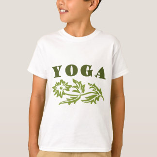 Floral Yoga Design T-Shirt