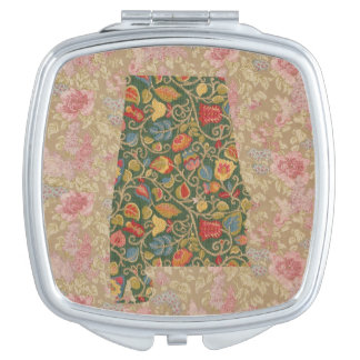 Floralbama Alabama State Floral borders compact Mirrors For Makeup