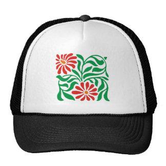 florales sample flowers floral pattern flowers mesh hats
