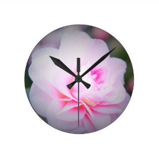 Florall Blush Round Clock