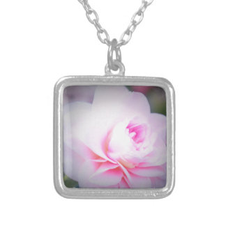 Florall Blush Silver Plated Necklace