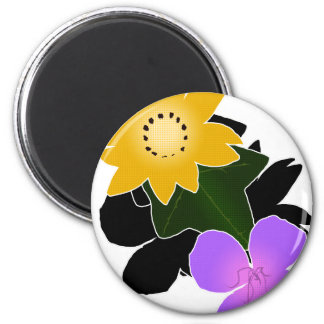 Florally 2 Inch Round Magnet