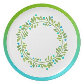 Florally festive. dinner plates