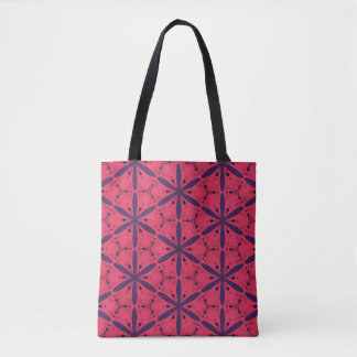 Florals and curlicues tote bag
