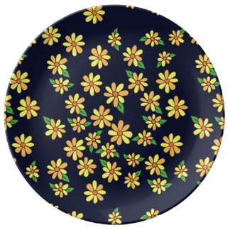 florals daisy plate