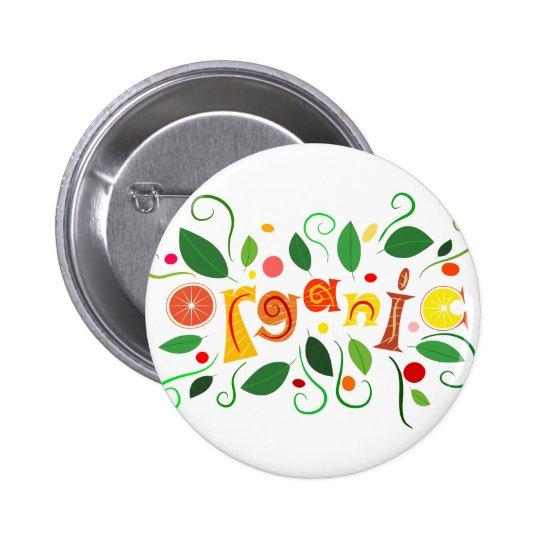 Floramentina - organic art 2 inch round button