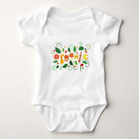 Floramentina - organic art baby bodysuit