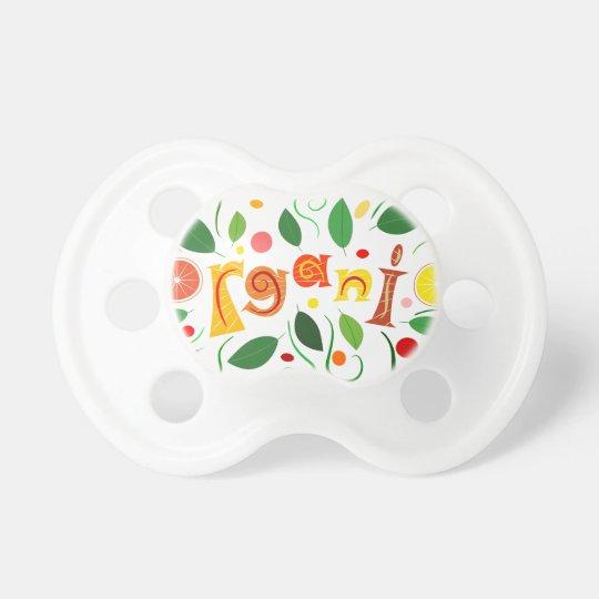 Floramentina - organic art baby pacifier