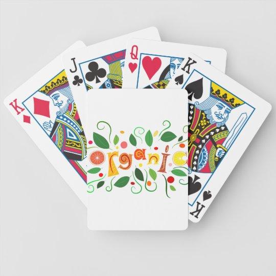 Floramentina - organic art bicycle playing cards