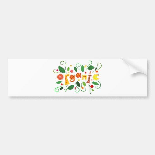 Floramentina - organic art bumper sticker