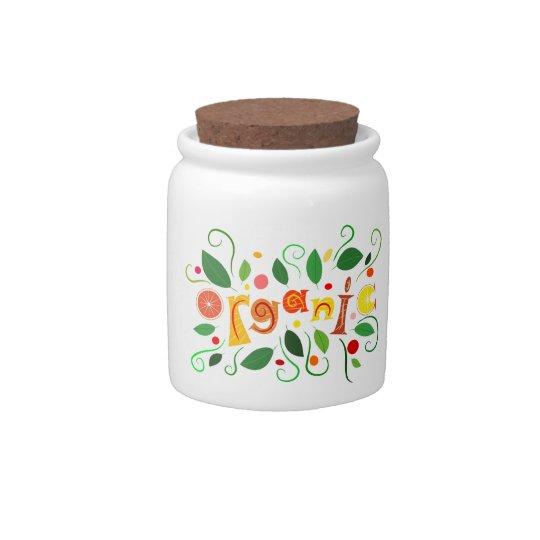 Floramentina - organic art candy jars