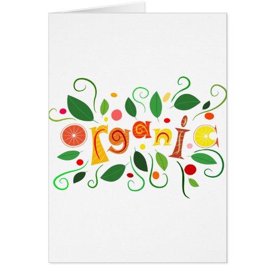 Floramentina - organic art card