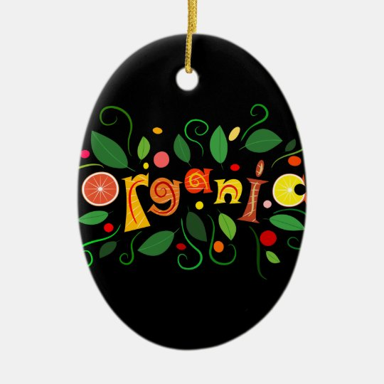 Floramentina - organic art ceramic oval ornament