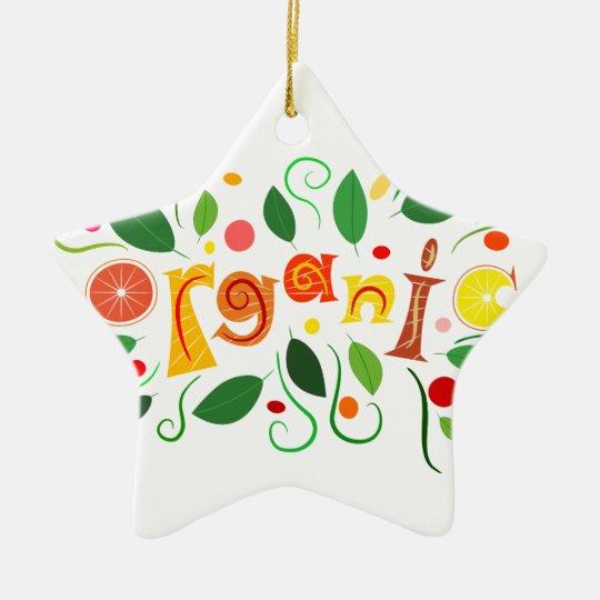 Floramentina - organic art ceramic star ornament